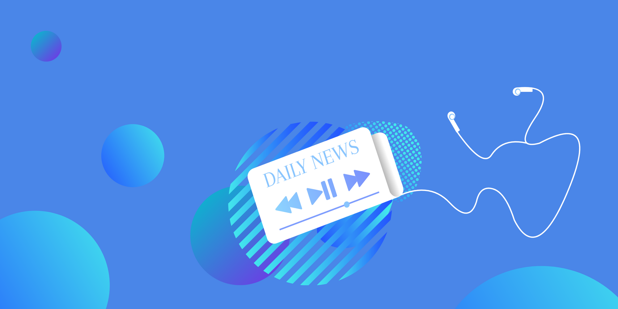 Daily News-audio-podcast-illustration-headphones-earbuds-TTS