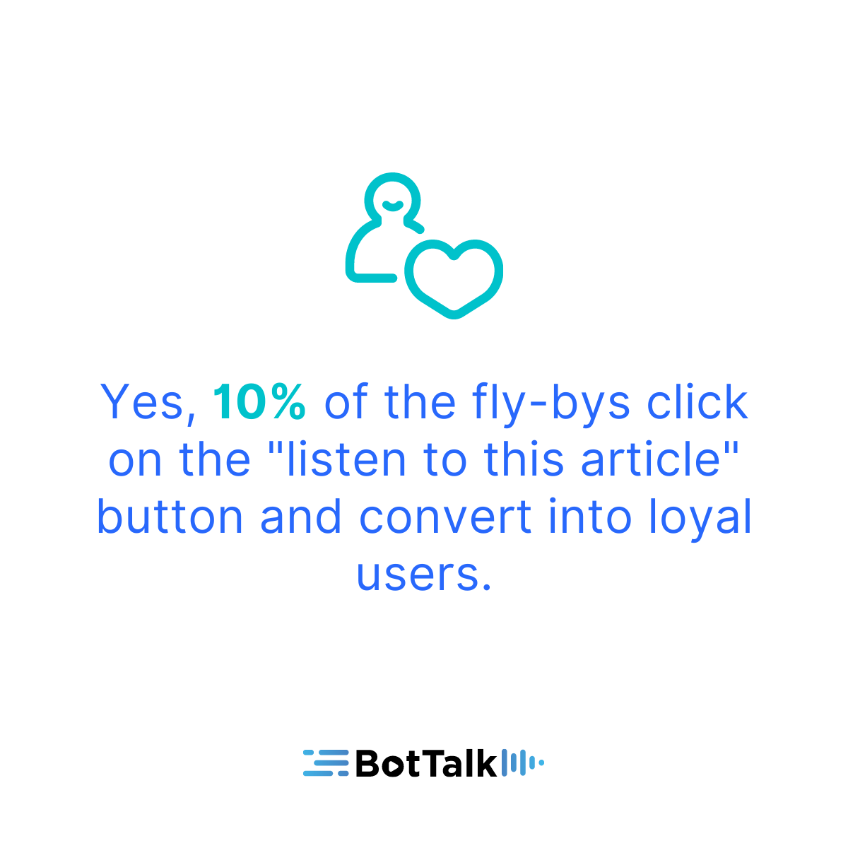 """10% of the fly-bys click on the """"listen to this article"""" button and convert into loyal users."""