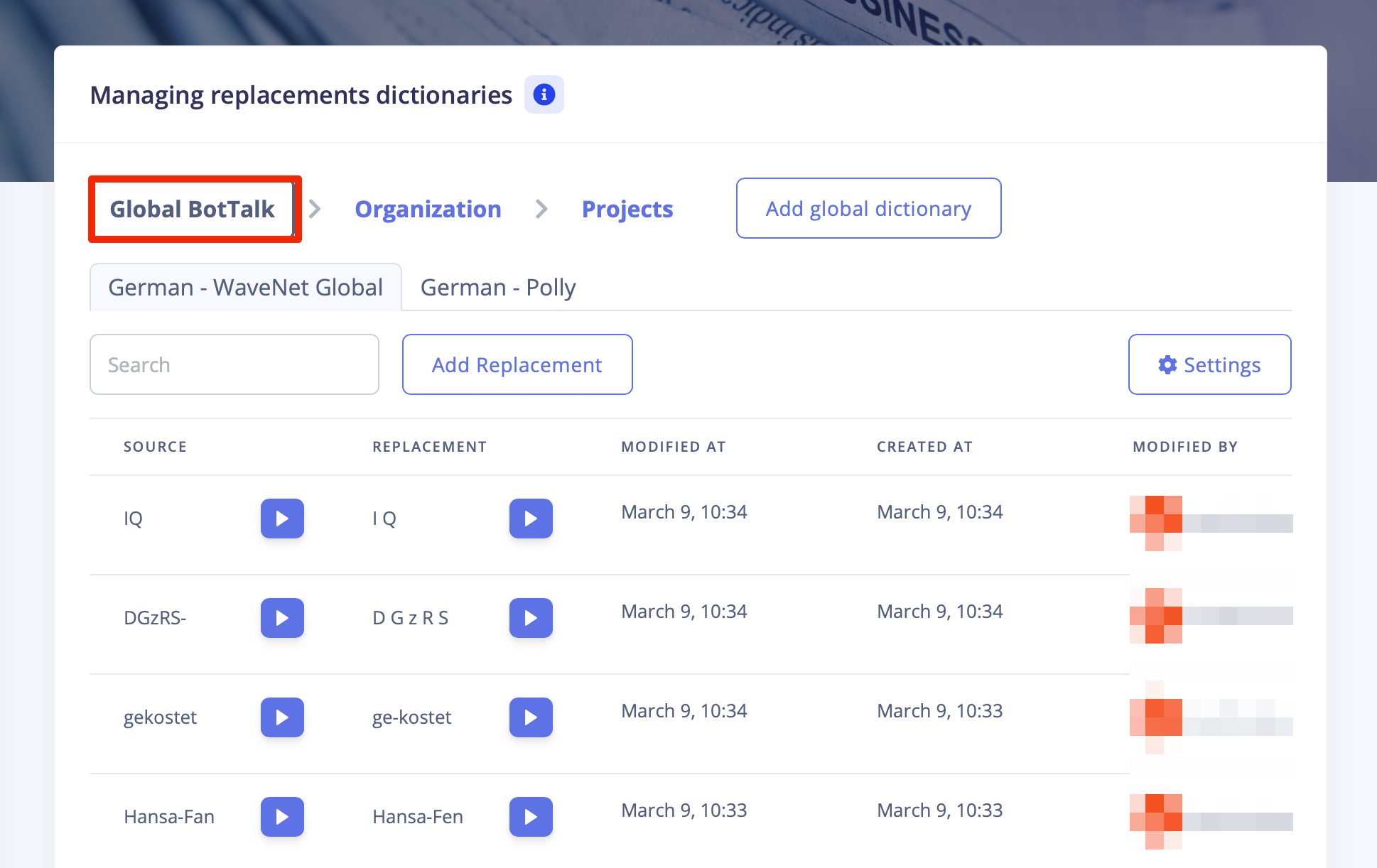 We are constantly working on our Global Dictionary to improve the overall quality.