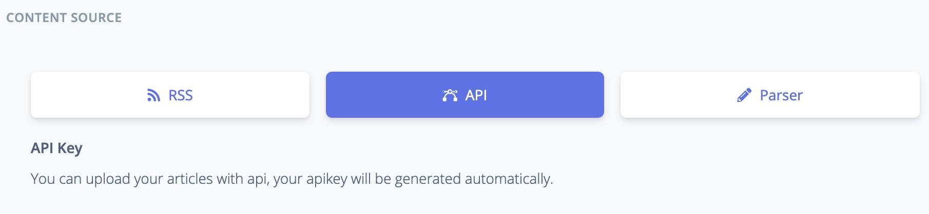 API as Content Source - BotTalk Audio CMS