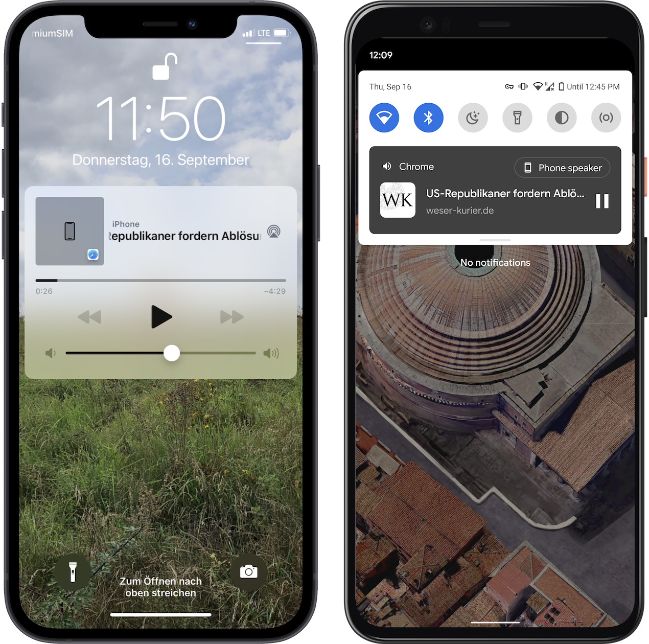 BotTalk Web Player supports both iOS and Android native audio controls